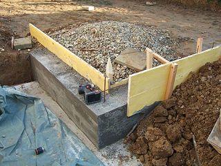 Berühmt Streifenfundament und Schotterunterbau selber machen RK48