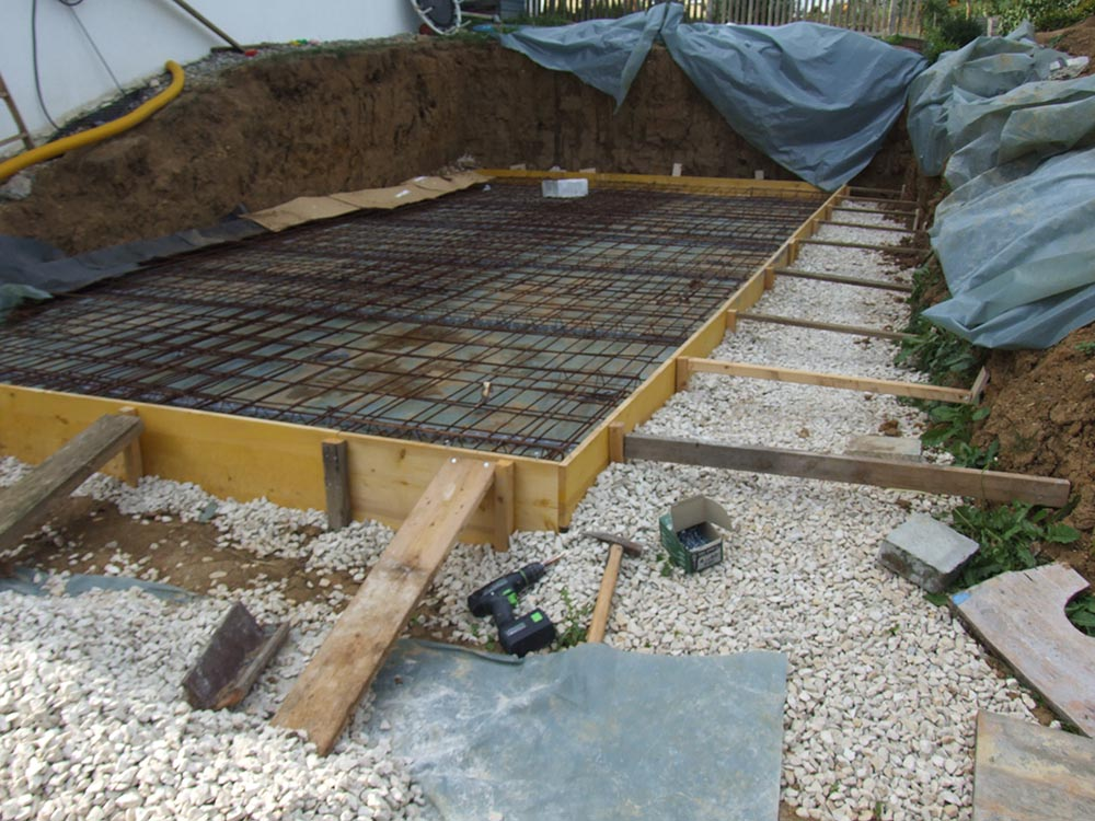 Beautiful Eine Vorbereitete Bodenplatte Kurz Vor Dem Betonieren