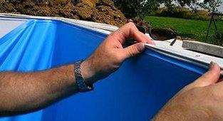 Keilbiesenprofil anbringen profil f r poolfolie auf for Foliensack pool